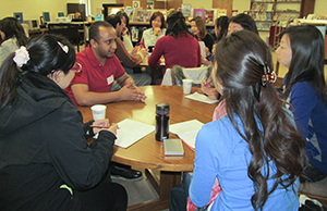 Students Around a Table in the LifeLong Learning Center