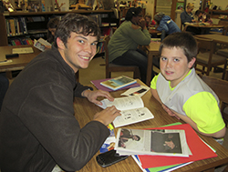 Sycamore Readers Reading Coach and Student