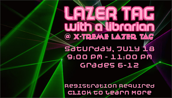 Lasers with Lazer Tag With a Librarian Information