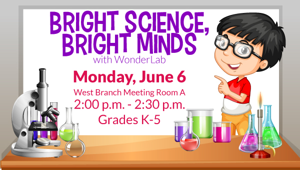 Beakers with Bright Science, Bright Minds Information