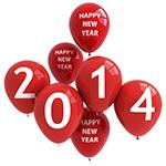 2014 New Years Red Balloons