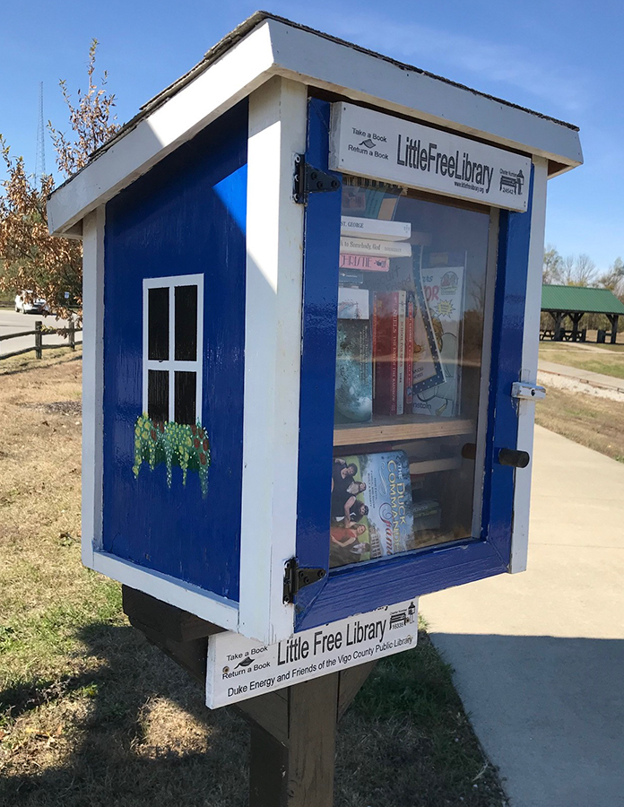 Little Free Library at the Maple Avenue Nature Park