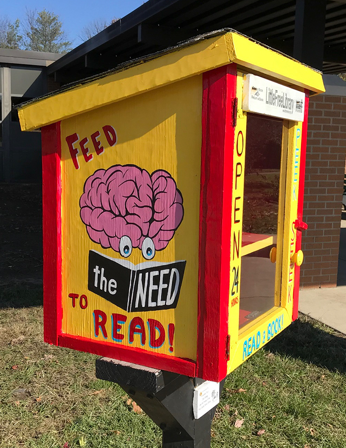 Little Free Library at Meadows Elementary School