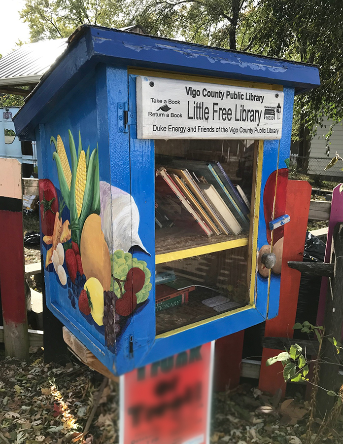 Little Free Library at Ryves Youth Center