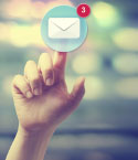 Finger Tapping Email Icon
