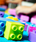 Brightly Colored Building Blocks