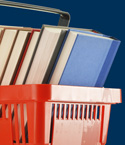 Books in Red Basket