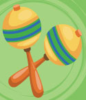 Illustration of Two Maracas