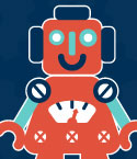 Illustration of Red Toy Robot