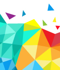 Rainbow-Colored Abstract Geometric Pattern