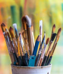 Paint Brushes in Cup