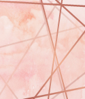 Pink Watercolor Background with Rose Gold Lines