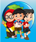 Three Multicultural Children with Globe