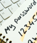 Notepad of Possible Passwords with Computer Keyboard