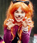 Girl Dressed Up as Cat