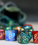 Roleplaying Dice Set with Green Bag