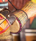 Colorful African Drums