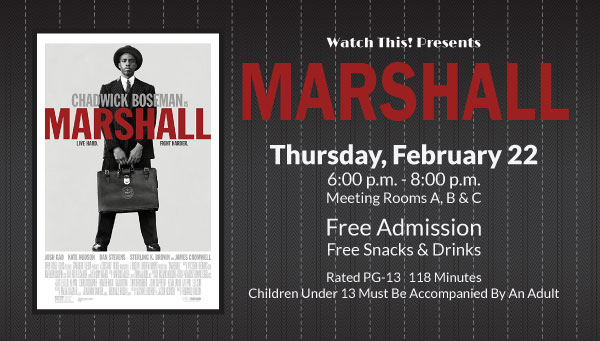 Poster: Marshall with Watch This! Information