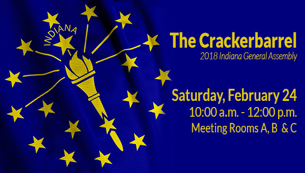 Indiana State Flag with Crackerbarrel Information