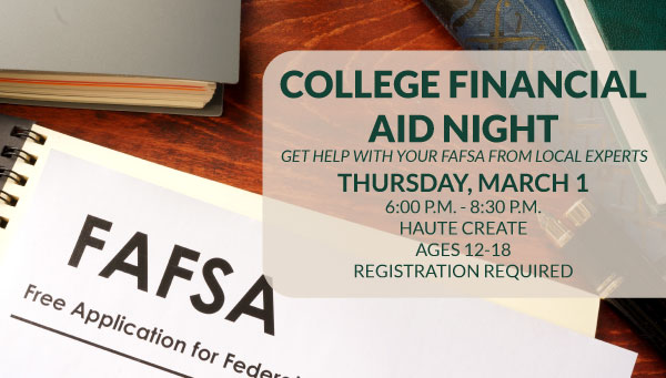 FAFSA Form with College Financial Aid Night Information