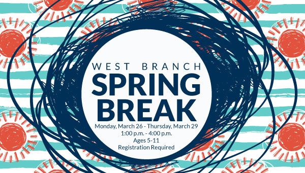 Scribbled Sun with West Branch Spring Break Information