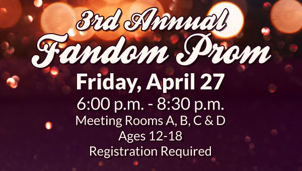 Bokeh Against Brown Background with Fandom Prom Information