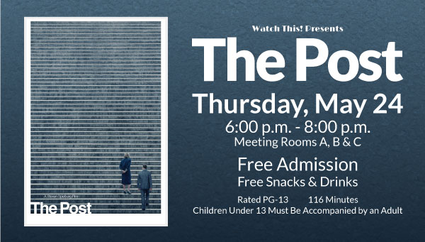 Poster: The Post with Watch This! Information