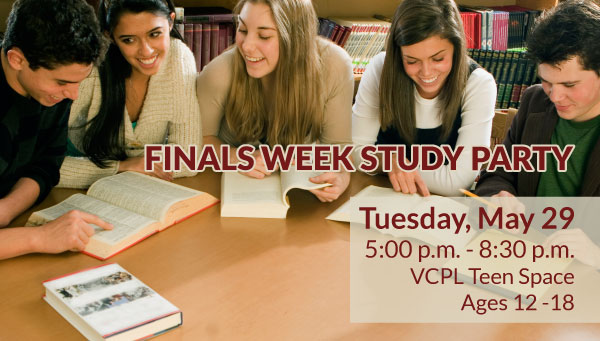 Group of Teen Studying with Finals Week Study Party Information
