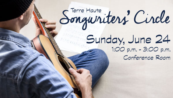 Man Playing Guitar with Terre Haute Songwriters' Circle Information