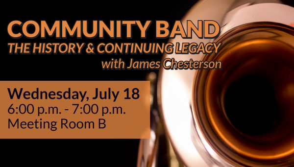 Copper Trumpet Bell Viewed Straight-On with Community Band Information