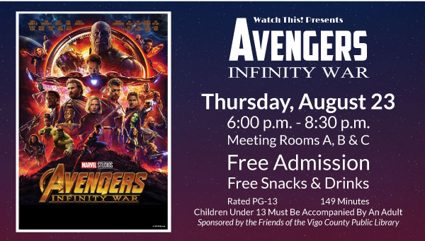 Poster: Avengers: Infinity War with Watch This! Information