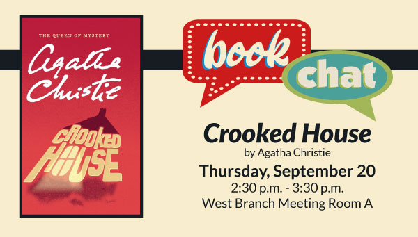 Cover: Crooked House by Agatha Christie with Book Chat Information