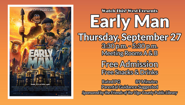 Poster: Early Man with Watch This! West Information
