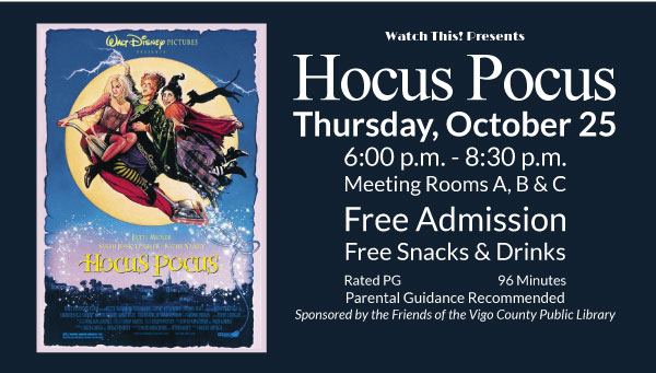 Poster: Hocus Pocus with Watch This! Information