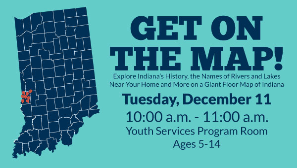 Indiana Map with Location Markers in Vigo County and Get on the Map Information