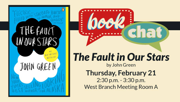 Cover: The Fault in Our Stars by John Green with Book Chat Information