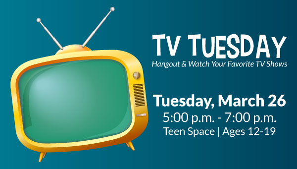 Yellow TV with TV Tuesday Information
