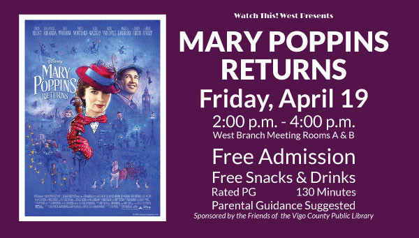 Poster: Mary Poppins Returns with Watch This! West Information