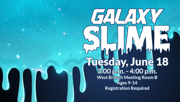 Blue, Sparkly Slime with Galaxy Slime Information