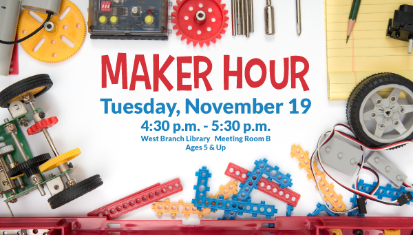Colorful Plastic Parts with Maker Hour Information