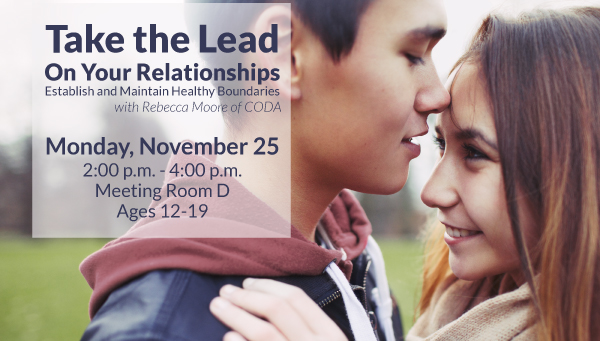 Two Teenagers Being Romantic with Take the Lead on Your Relationships Information
