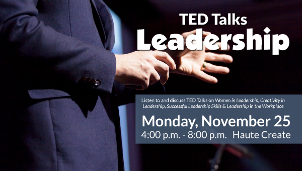 Speaker at a Conference with TED Talks: Leadership Information