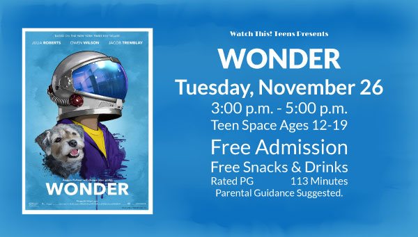 Poster: Wonder with Watch This! Teens Information