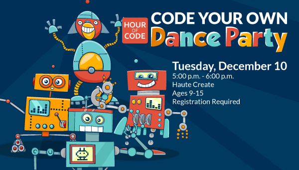 Four Robots Dancing with Hour of Code: Code Your Own Dance Party Information