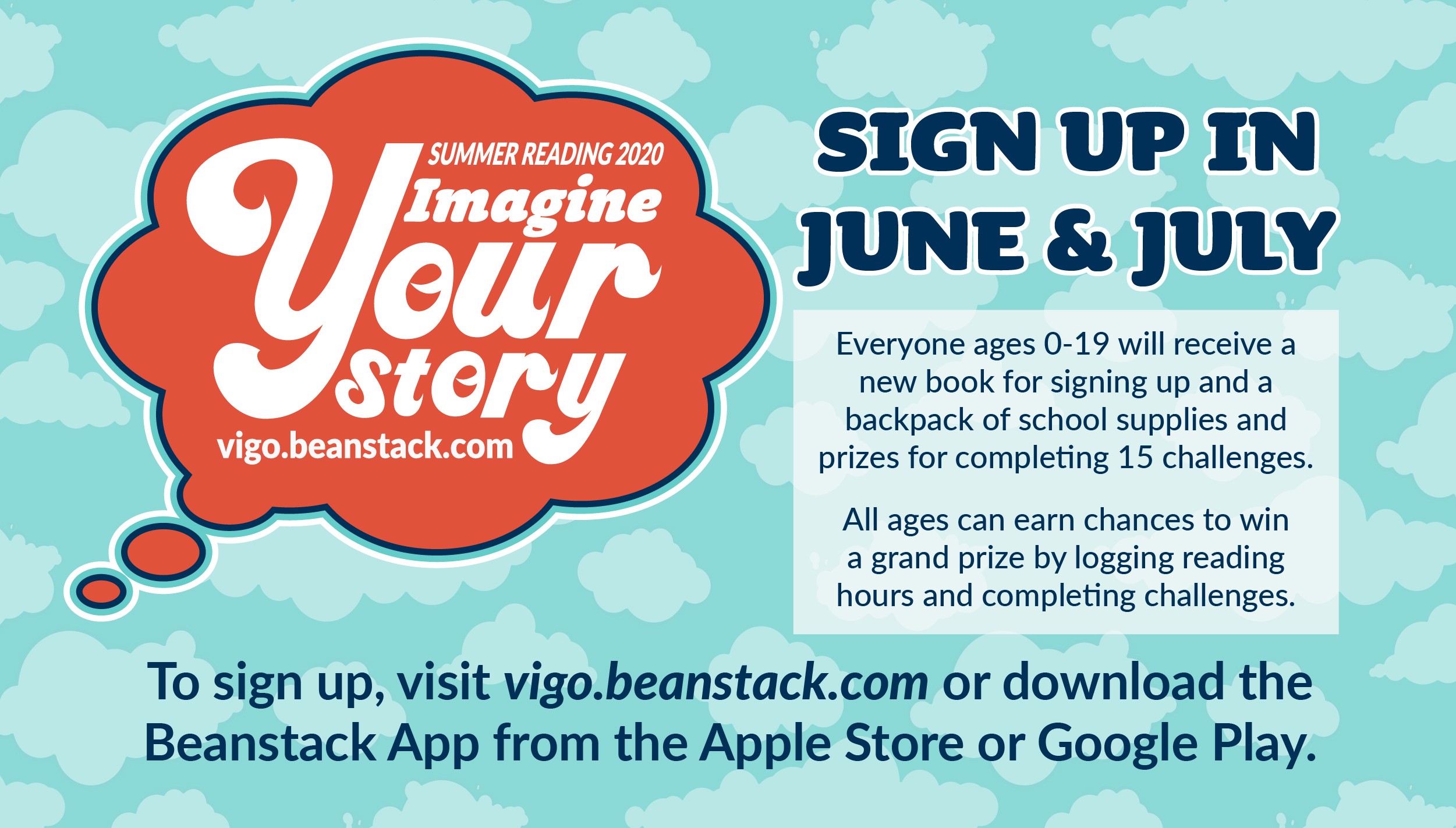 Imagine Your Story Logo and Information