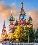 St. Basil's Cathedral in the Red Square, Moscow, Russia