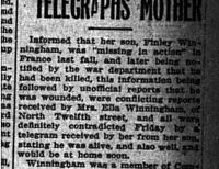 Son Reported Dead Telegraphs Mother
